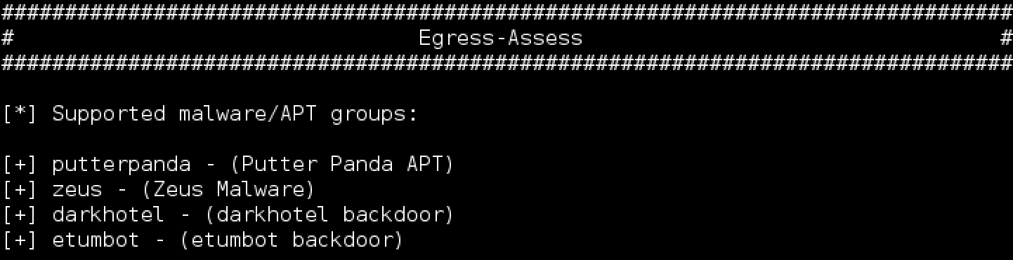 Egress-Assess Supported Malware